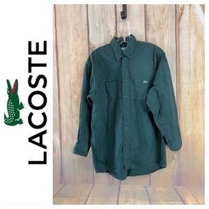 ➡️Lacoste Green Buttoned Casual Shirt Size M